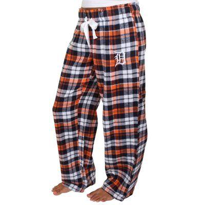 Detroit Tigers Women's Navy Blue Reign Flannel Plaid Pant