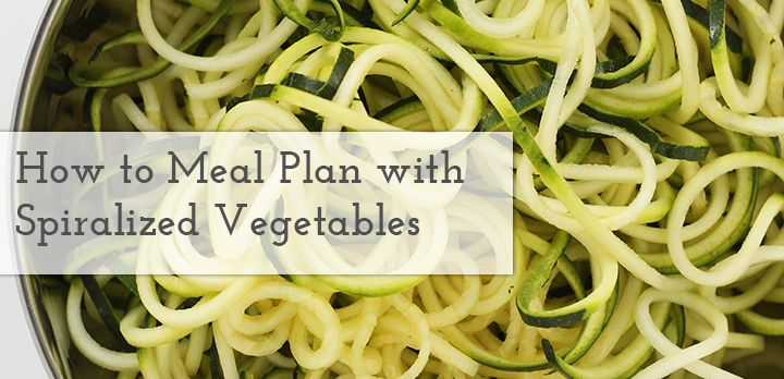 Meal Planning with Spiralized Vegetables