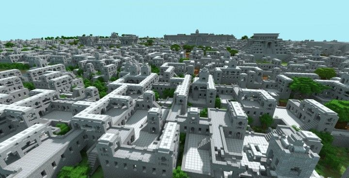 Aztec Empire Project (1:1 scale of lake Texcoco) Minecraft Project