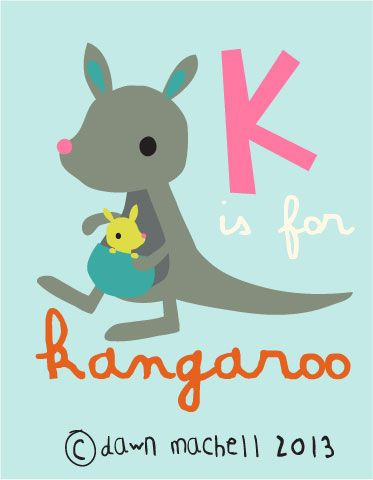 K is for kangaroo /// pop-i-cok