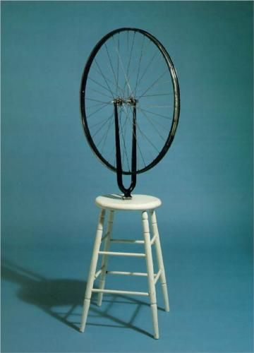 By Marcel Duchamp, 1 9 1 3, Bicycle Wheel (Israel Museum, Jerusalem)