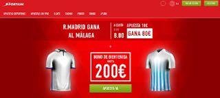 el forero jrvm y todos los bonos de deportes: Supercuota 8 Sportium Real Madrid gana Málaga + Bo...