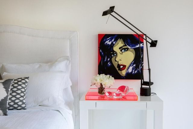 Parsons Mini Desk (as a nightstand) from west elm via @Apartment Therapy