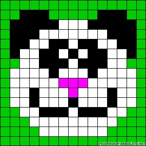 Panda perler bead pattern