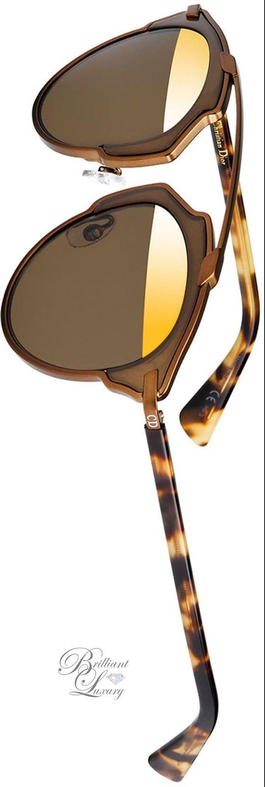 Brilliant Luxury * Dior So Real Two-Tone Brow-Bar Sunglasses