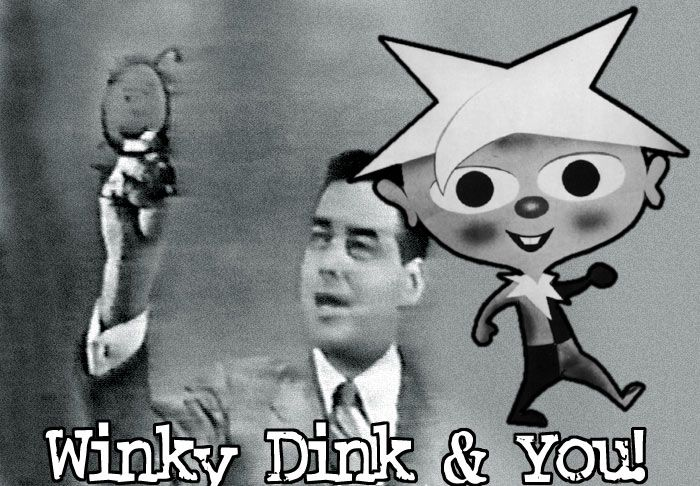 Winky Dink TV Show-Winky Dink and Me, Winky Dink and You! You could draw on the t.v. screen!