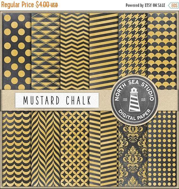 20% OFF Mustard Chalk Digital Paper Mustard Chalkboard Backdrop Chalk Scrapbook Paper Yellow Chalk Board Invitations Card Making Stationery