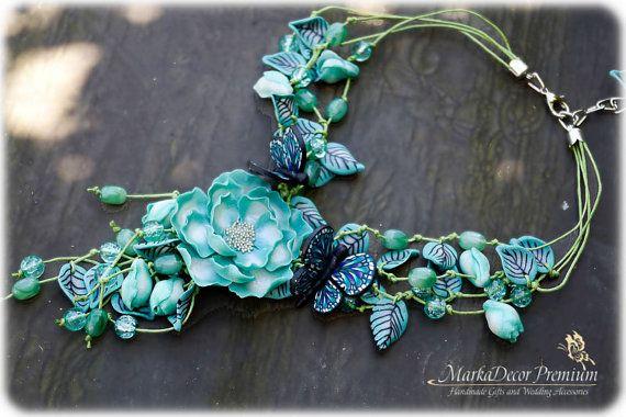 Birthday Bridal Jewelry Necklace Flower by MarkadecorPremium