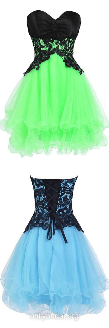 Princess Cocktail Dresses,Sweetheart Party Gowns,Organza Short Prom Dresses,Tiered Nice Homecoming Dresses