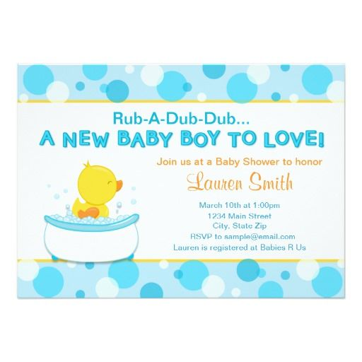 336 best Duck Baby Shower Invitations images – Baby Shower Invitation Cards for Boys