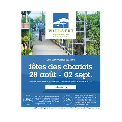 WILLAERT ROESELARE : Journées des chariots Automne 2014 chez Willaert, vous êtes les bienvenus à nos portes ouvertes du jeudi 28 août au mardi 2 septembre