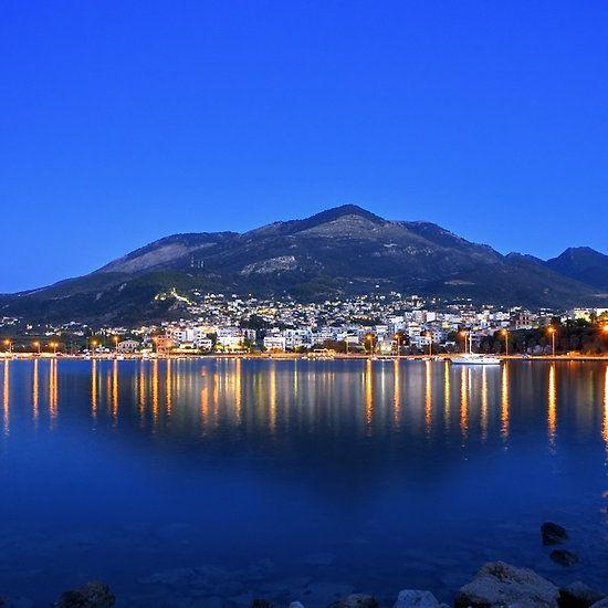 Kyparissia twilight. Peloponnese Greece