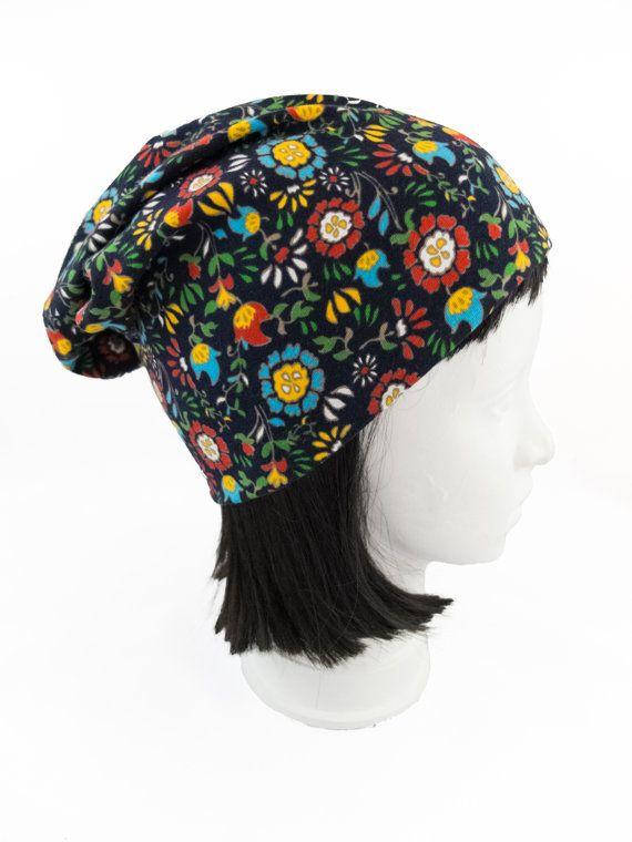 Reversible beanie/boho slouchy hat/boho by Jousilook on Etsy
