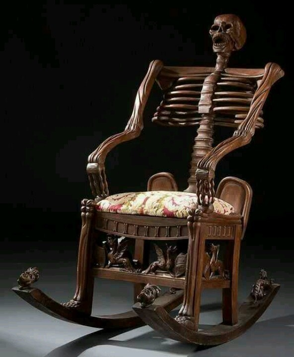 Skeleton Rocking Chair Russia 19th Century
