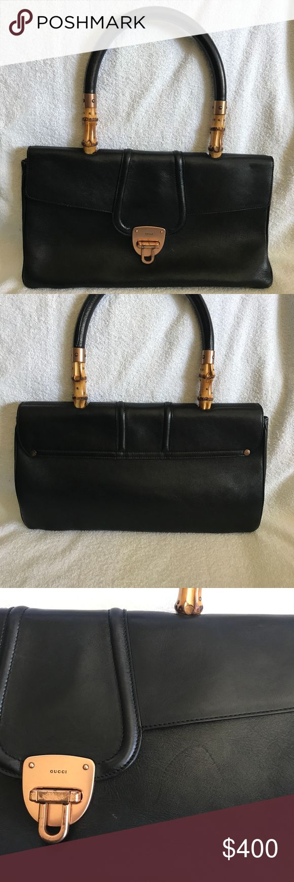 GORGEOUS VINTAGE GUCCI BAG Beautiful Vintage Gucci Bag- still in amazing condition. Has a few scratches from minor wear and tear- see pictures. Iconic Gucci bamboo handles and soft leather. Versatile and classic!  ***NO TRADES***NO PAYPAL***PRICE NON NEGOTIABLE Gucci Bags Shoulder Bags