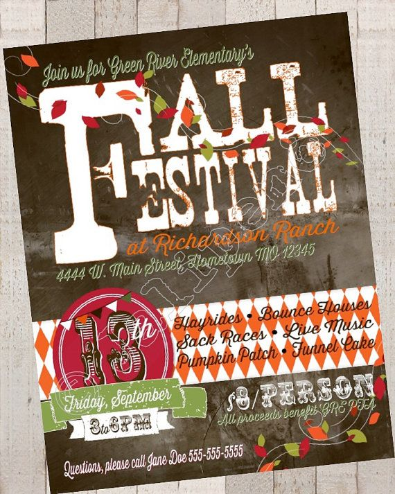 Fall Festival Ideas - Fall Festival Poster / Advertisement / Flyer