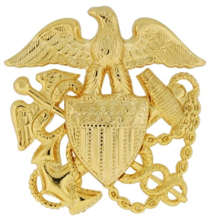 NAVY CAP DEVICE, PUBLIC HEALTH GARRISON GOLD PLATED