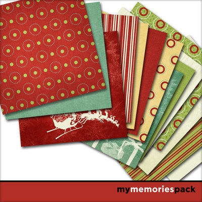 Digital Scrapbooking Kits | All Wrapped Up | Holidays - Christmas | MyMemories Barbara Ryan