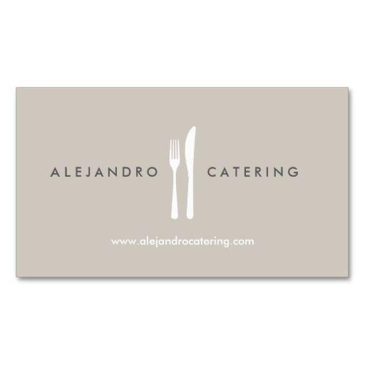 198 best restaurant business cards images on pinterest business fork knife logo for chef catering restaurant business card reheart Images