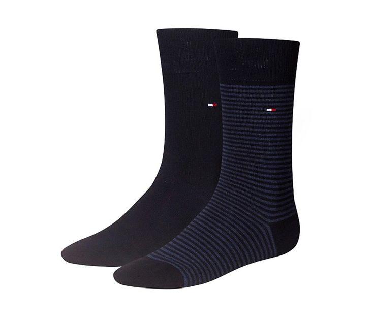 ¡CAMBIA DE TENDENCIA! Pack de 2 calcetines Tommy multirayas azul y liso en azul marino por sólo 13.95€. ENVÍO 24/48h. Más modelos en http://www.varelaintimo.com/93-calcetines-de-algodon