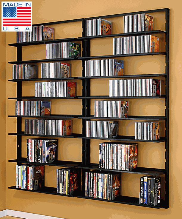 dvd+storage+on+the+wall | Products > Multimedia Storage > CD/DVD/VHS Storage Racks