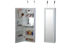 Groupon - Over-the-Door Beauty Armoire with Full-Length Mirror in [missing {{location}} value]. Groupon deal price: C$129