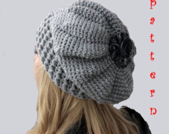 Free Crochet Beanie Beret Pattern : Best 25+ Slouchy Beanie Pattern ideas on Pinterest ...