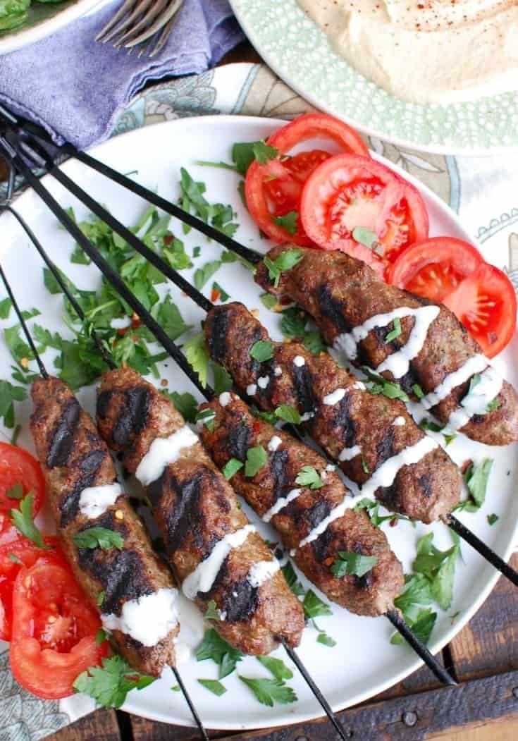 Grilled Beef Kafta Kebabs Recipe Kebab Recipes Beef Kebabs Grilled Beef
