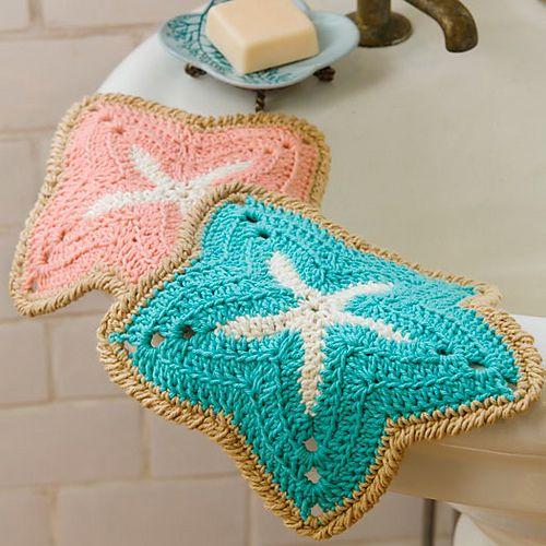 Starfish Dishcloths patternCrochet Dishcloth, Starfish Dishcloth, Free Pattern, Dishcloth Free, Free Crochet, Crochet Starfish, Red Heart, Dishcloth Crochet, Crochet Pattern