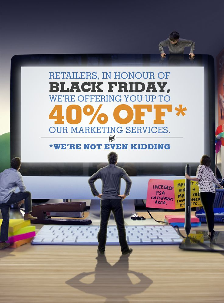 As part of #BrandspankFRIDAY retailers can experience #BlackFriday savings--on marketing services. http://Deals4Reatilers.com