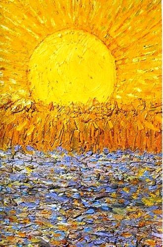Vincent van Gogh - Le Soleil  In this eternal winter, this is the next best thing – #art repinned by http://LinusGallery.com