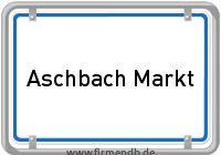 Ortsschild von Aschbach Markt