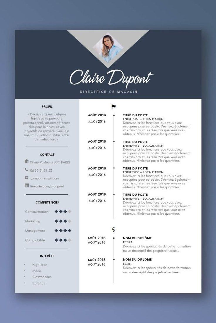 Plus De 20 Exemples De Cv Pour Boostez Vos Candidatures A La Recherche D Un Job Choisissez Design Brief Template Resume Design Creative Graphic Design Cv