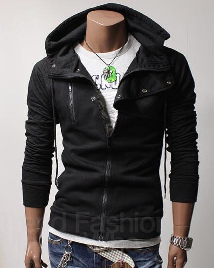 Quilt Hood Jacket (Black) - Rockdenim.no - $699nok: Jackets Black, Quilts Hoods, Men Style, Hoods Jackets, Neck Quilts, Products