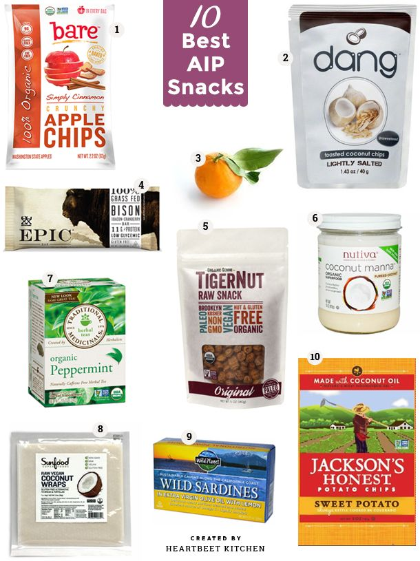 The 10 Best AIP Snacks that make on-the-go eating and traveling easier. All are Autoimmune Protocol and paleo approved.