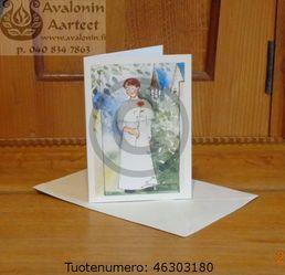 Minna Immonen confirmation (first communion) card: boy / Minna Immosen rippikortti (konfirmaatiokortti): poika