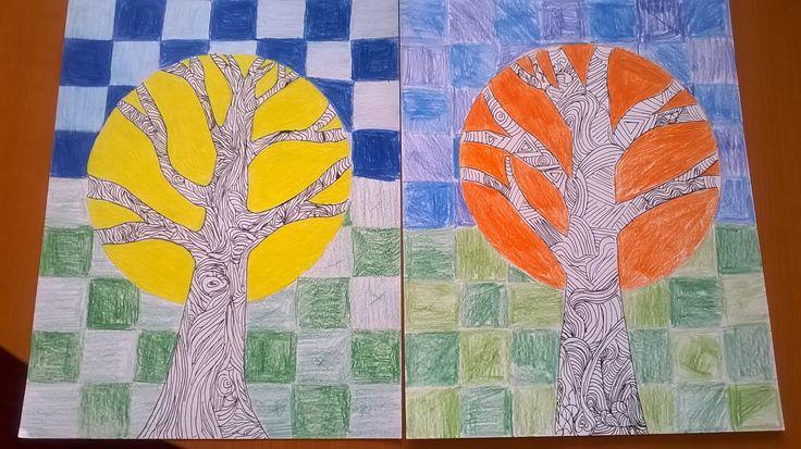perokresba strom
