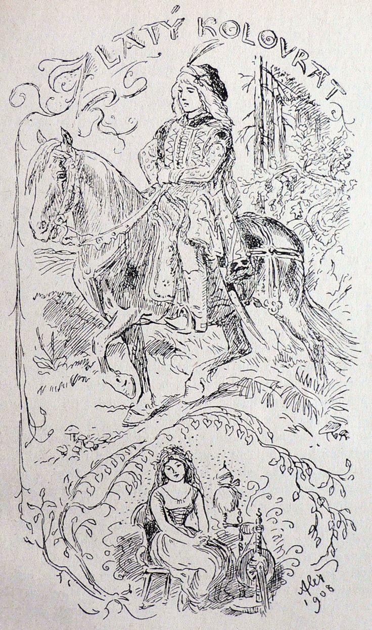 pohádky-Zlatý kolovrat - secesní princezna