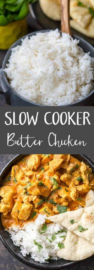 Slow Cooker Butter Chicken is the perfect back to school family meal! Easy and delicious! Sponsored by @successrice #Back2SchoolSuccess