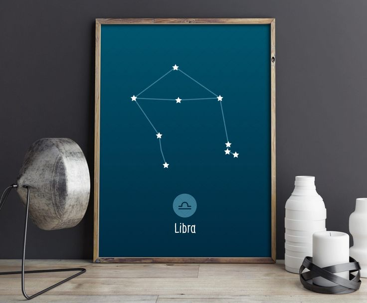 Libra Constellation Art Print