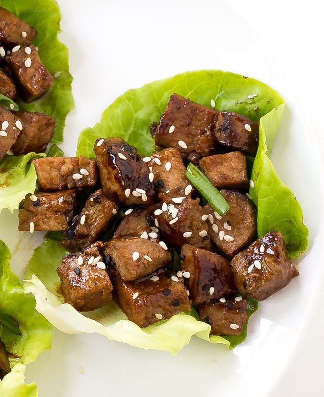Easy 30 Minute Asian Pork Lettuce Wraps! Grilled pork tossed with an amazing Asian sauce. Perfect as an appetizer or for dinner!