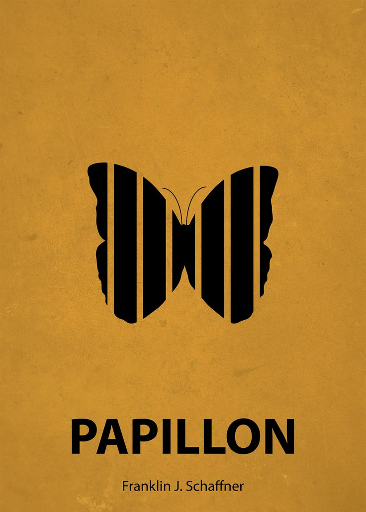 Papillon (1973) ~ Minimal Movie Poster by Aykut Kuc #amusementphile