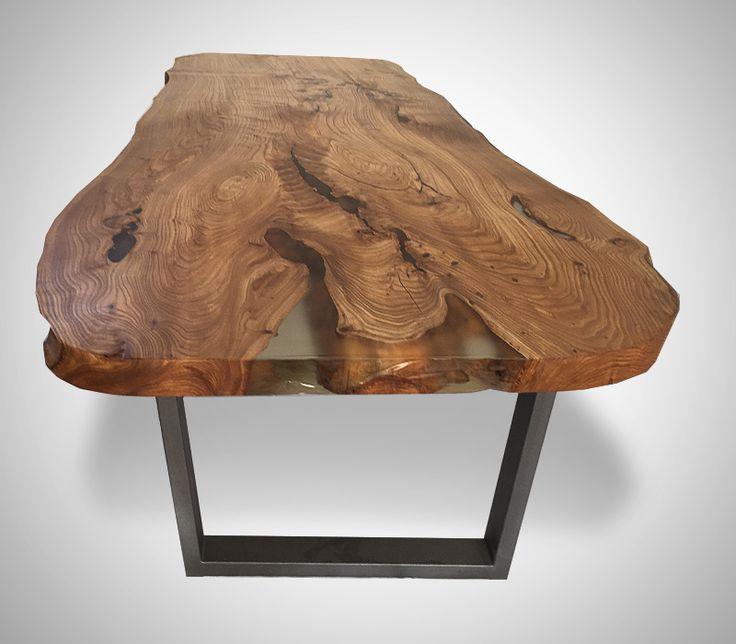Стол из цельного слэба карагача