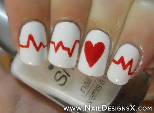 I want these for valentines day heart nail art » Nail Designs & Nail Art-stephy b