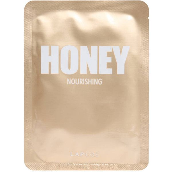 Lapcos Honey Nourishing Mask found on Polyvore featuring beauty products, skincare, face care, face masks, beauty, fillers, makeup, gold, face mask and moisturizing facial mask