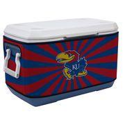 Kansas Jayhawks 70qt. Burst Rappz Cooler Cover