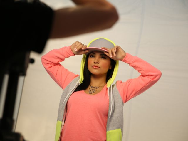 Latina rapper and Mexican-American starlet Becky G at her COVERGIRL photoshoot.