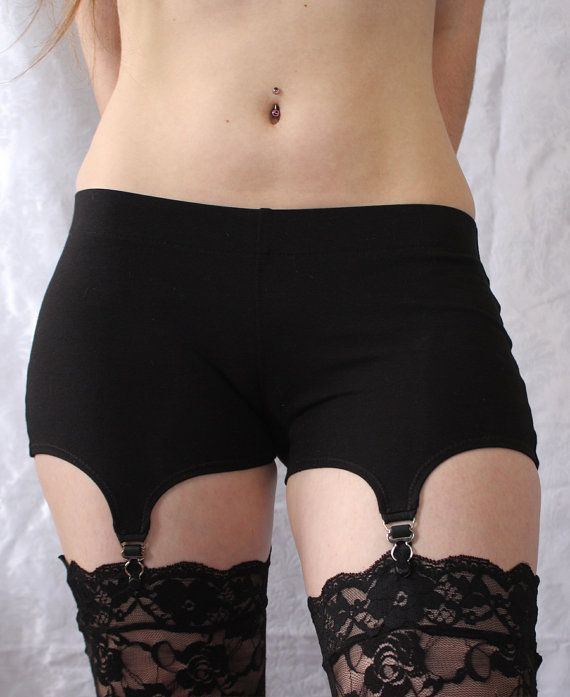 Strumpfband-Shorts - bequeme Baumwolle Garter Belt Alternative