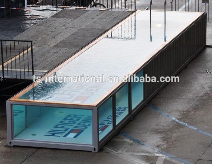 die besten 25 containerpool ideen auf pinterest selbstgebauter pool diy schwimmbad und. Black Bedroom Furniture Sets. Home Design Ideas