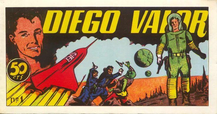 Diego Valor, Primera época (20 de junio de 1954 a diciembre de 1956) Constó de 124 números ordinarios publicados semanalmente y un almanaque, publicados por Ediciones Cid